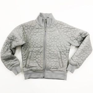 The North Face Grey Quilted Bomber Jacket Med